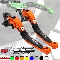 Orange Hot Sale aluminum Adjustable Foldable brake clutch levers for ktm rc 390 rc390 motorcycle CNC parts