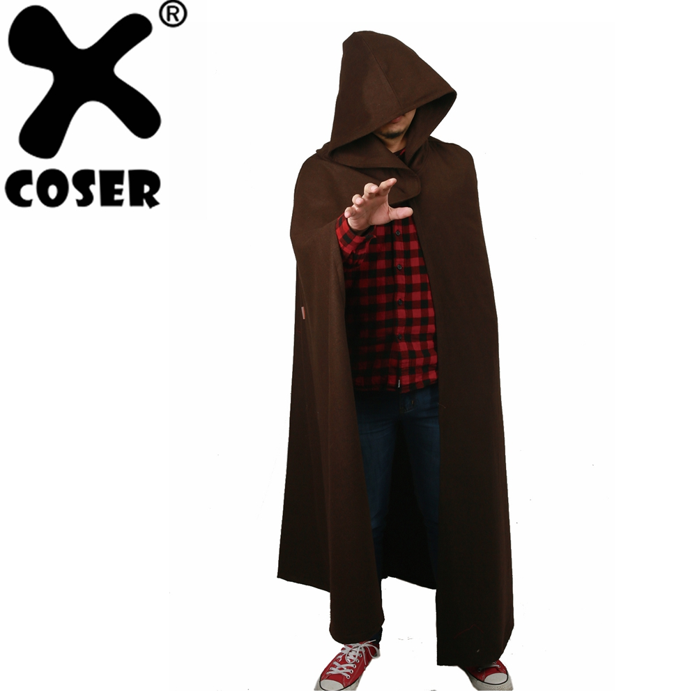 все цены на XCOSER Star Wars Luke Skywalker Jedi Coat Cosplay Costume Props Halloween Party Movie Cosplay Long Jacket Hooded Coat Original