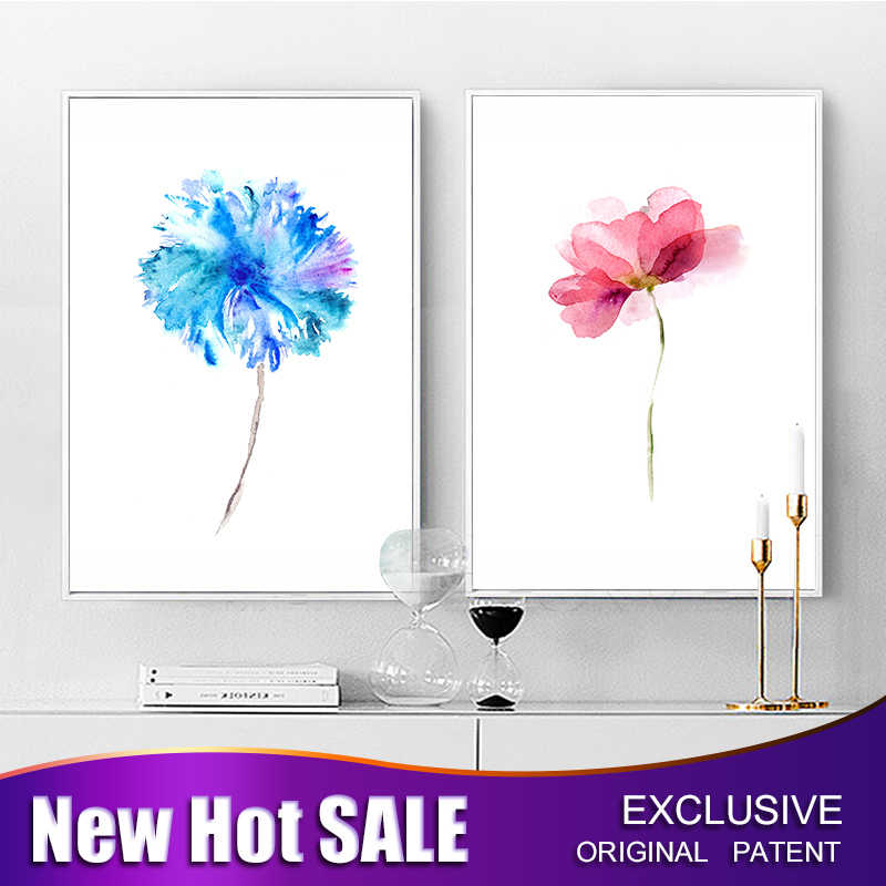 Modern Abstract Art Wall Paintings FLowers Decorative Picture Wall Art Home Decoration Canvas Oil Painting Decor Poster Pictures