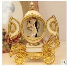 Pure natural egg music box wedding Valentine's Day gift to send girls to the Qixi Festival creative Christmas