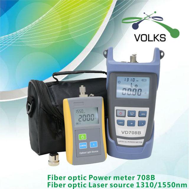 2 em 1 fibra óptica fonte laser e óptica power meter VD708B - 50 ~ + 26dBm com saco frete grátis