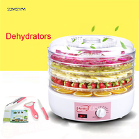 S6 Home electric food meat fruit vegetable herb dehydrator dryer jerky dehydrator drying machine oven dehumidifier 5 layers 220V