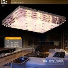 Простой прямоугольный Кристалл Лампы цвет современное освещение гостиной горит потолка спальни 90-260 В Роскошные лампы L800xW600MM