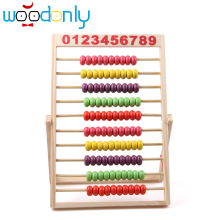 10-Row Classic Bead Wooden Abacus Child Educational Calculate Count Numbers Free Shipping
