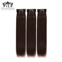 VL Human Hair 3 Bundles Weave 100% Remy Extensions Straight With DHL Free Shipping Black/Brown For Salon