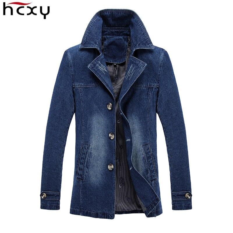 2017 autumn Casual Slim Mens Denim Jacket Plus Size 4XL 5XL Jacket Men Coats Parka High Quality Cowboy Men's Jean Jacket