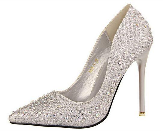 Popular Silver Diamond High Heel Shoes-Buy Cheap Silver Diamond ...