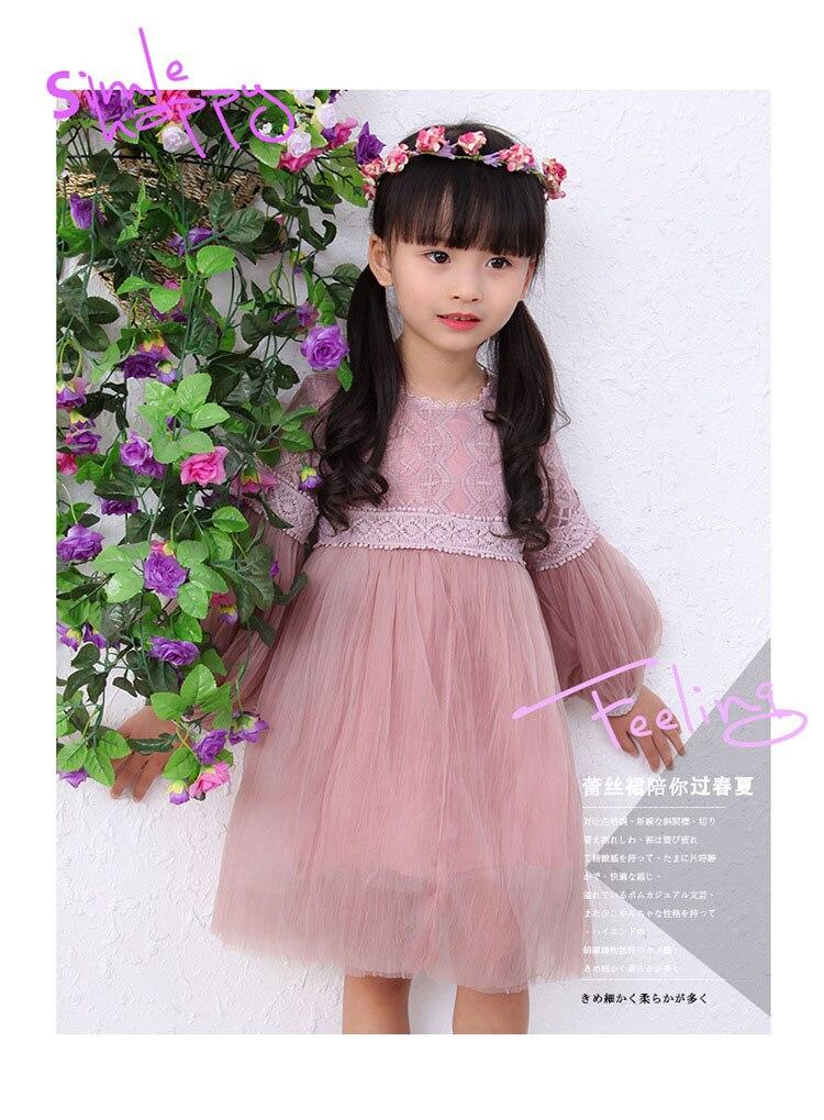 teenage little girl dress girl party dresses long sleeve lace mesh ...