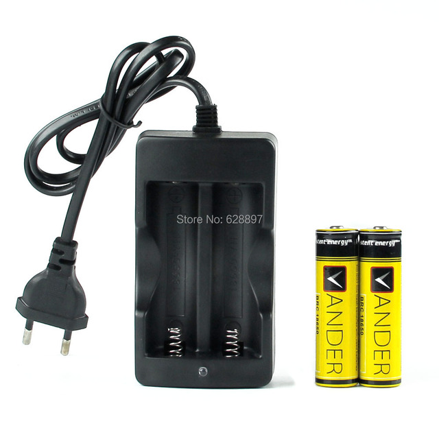 18650 Battery 18650 Charger EU Plug Battery Charger D2 Digcharger For 18650 Rechargeable Li-Ion 3000mAh 3.7V+ 2x 18650 Battery