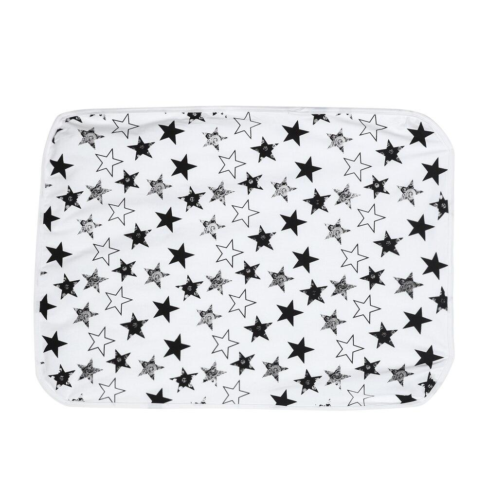 Baby Star Printed Blanket Newborn Baby Cotton Swaddle Wrap Stroller
