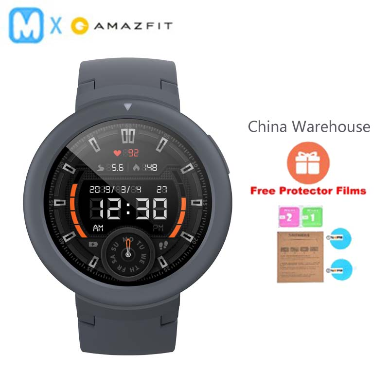 Original AMAZFIT Verge Lite Smart Watch GPS IP68 Waterproof Multi Sports Smartwatch Health Tracker long standby