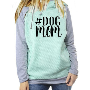 Drop Shipping Fall Winter Fashion Dog Mom Hoodies Women Kawaii Sweatshirt Femmes Printing Pattern Female Cropped And Sweatshirts