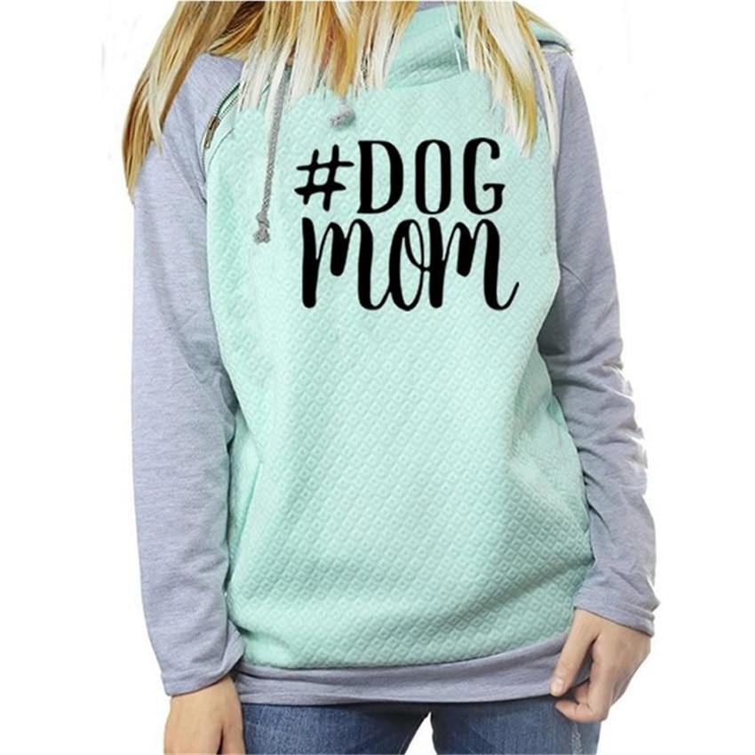 Drop Verschiffen Herbst Winter Mode Hund Mom Hoodies Frauen Kawaii Sweatshirt Femmes Druck Muster Weibliche Abgeschnitten Und Sweatshirts