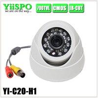 Plastic Mini IR Dome Camera Housing 24pcs LED Board Video Security Camera Casing Indoor CCTV Housing