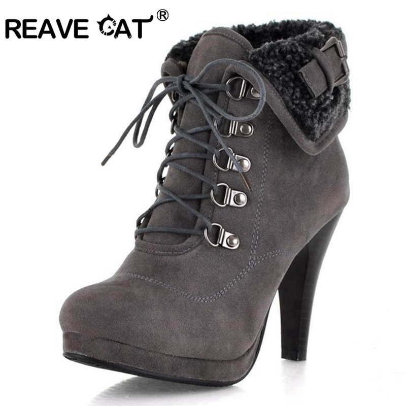 REAVE CAT Vintage Nubuck Ankle Motorcycle boots for women