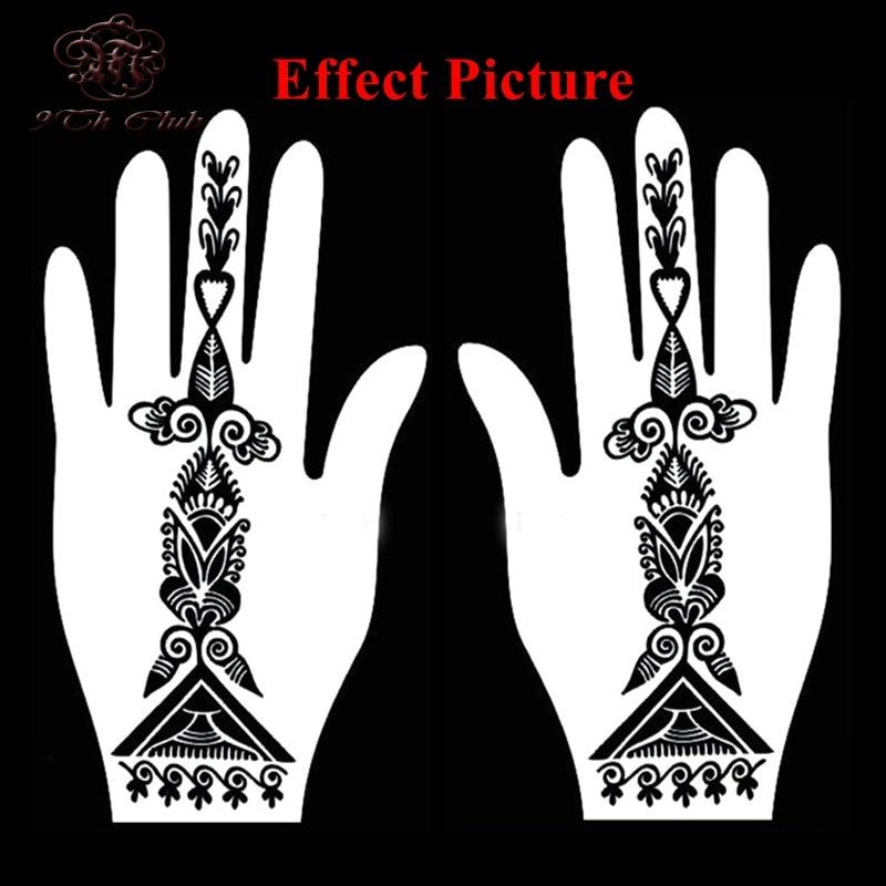4pcs facile femmes pochoir de tatouage au henné, pochoir - Tatouages et art corporel - Photo 5
