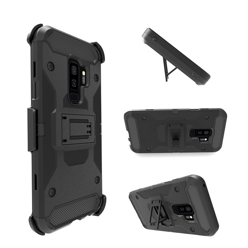 lowest price ee8d1 92374 Heavy Duty Shockproof Hybrid Rugged Armor Case for Samsung Galaxy S9 S8  Plus Note 9 8 With Belt Clip Holster Hard Phone Cover-in Fitted Cases from  ...