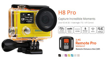 Hot Sale Ultra HD 4K/30fps 1080P/120fps Sport Action Camera EKEN H8 PRO Go Pro Style With Remote Dual Screen Action Camera
