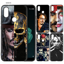 johnny depp Silicone Soft Case Cover for Xiaomi A2 Lite A1 Redmi S2 Note 5 Plus 6 6A 4 4X Pro Poco F1 Pocophone 5X 6X(China)