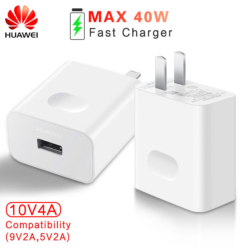 HUAWEI Super chargeur Original chargeur de voyage Charge rapide 3.0 HUAWEI MATE 20 Pro 20 RS Honor 10 Magic 2 10 V 4A MAX 40 W adaptateur