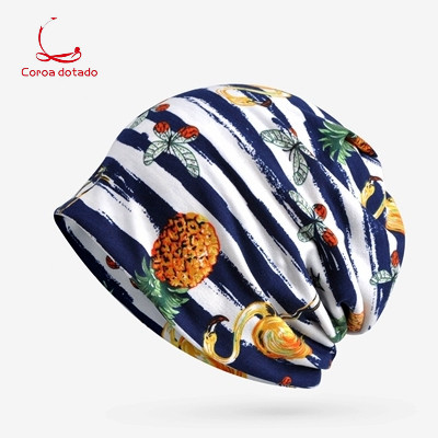 New summer thin breathable hats red crane pattern cotton pile hat men and women casual baotou hat in Men 39 s Skullies amp Beanies from Apparel Accessories
