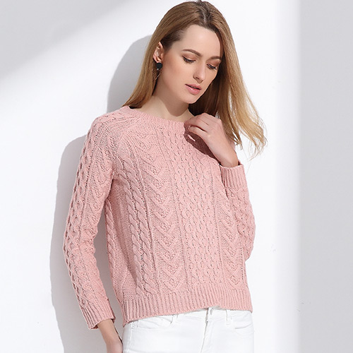 Retro Pullover Pink Sweater 2