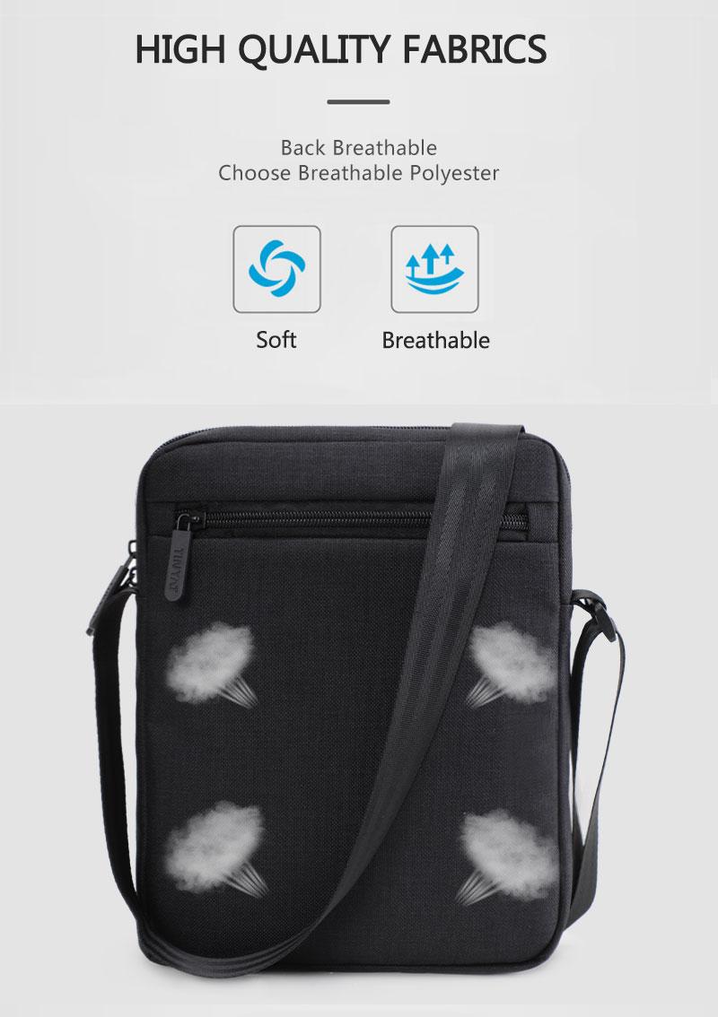 TINYAT Light Canvas Men's Shoulder Bag For 7.9' Ipad Casual Crossbody Bag Waterproof Business Shoulder bag for men 0.13kg 5