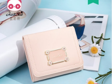 Princess sweet lolita bag Summer and spring fashion short wallet many cards Korean wallet cute and adorable wallet women 070623 sweet women s wallet with bow and solid colour design