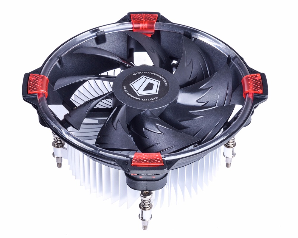 ID-COOLING DK-03 120mm Fan PC Intel CPU Processor Cooling Coolers Heat Sink Radiator LED Fan LGA1150 1155 1151 1156 2200rpm cpu quiet fan cooler cooling heatsink for intel lga775 1155 amd am2 3 l059 new hot