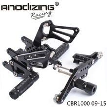 Full CNC Aluminum Motorcycle Adjustable Rearsets Rear Sets Foot Pegs For HONDA CBR1000RR ABS 2009 2010 2011 2012 2013 2014 2015