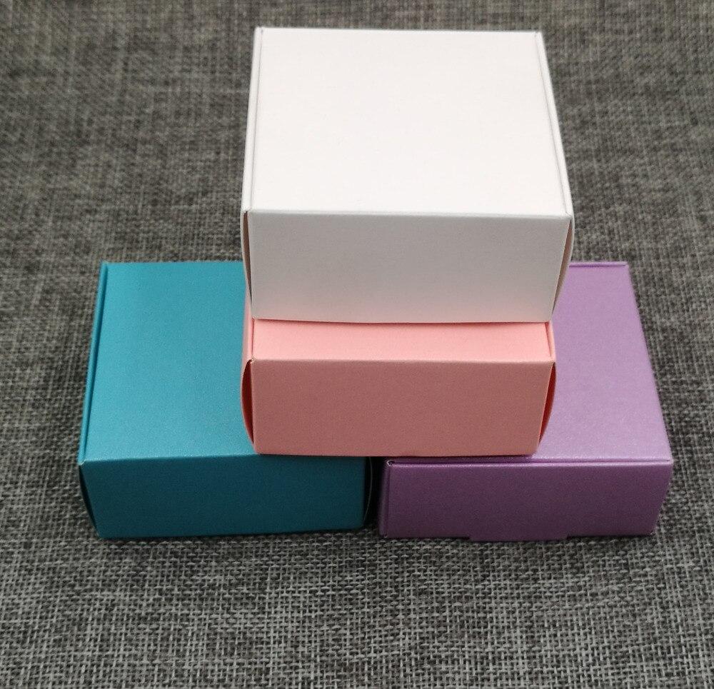 ⑤Teil los cm kraftpapier Schmuck Boxes Geschenk Tragetasche Blank ...