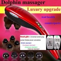 Moledodo Corpo Massager del Delfino Elettrico Vertebra Cervicale Dispositivo di Massaggio Strumento di Bellezza bastone di Massaggio di sanità Relax D5