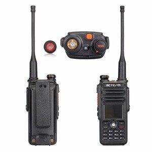 Image 4 - Walkie Talkie Digital DMR Retevis RT82 de doble banda, GPS, 5W, VHF, UHF, DMR, IP67, Ham, transmisor de Radio Amateur resistente al agua + Cable