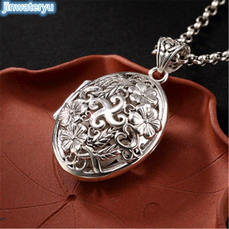 2018 stering argent Vintage collier pendentifs pour hommes 925 argent boîte pendentifs