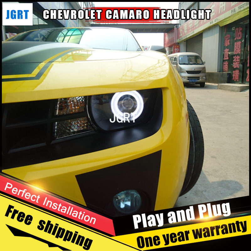 2PCS Car Style LED headlights for Chevrole Camaro 2010-2012 for head lamp LED DRL Lens Double Beam H7 HID Xenon bi xenon lens hireno headlamp for volkswagen sharan 2012 2016 headlight assembly led drl angel lens double beam hid xenon 2pcs