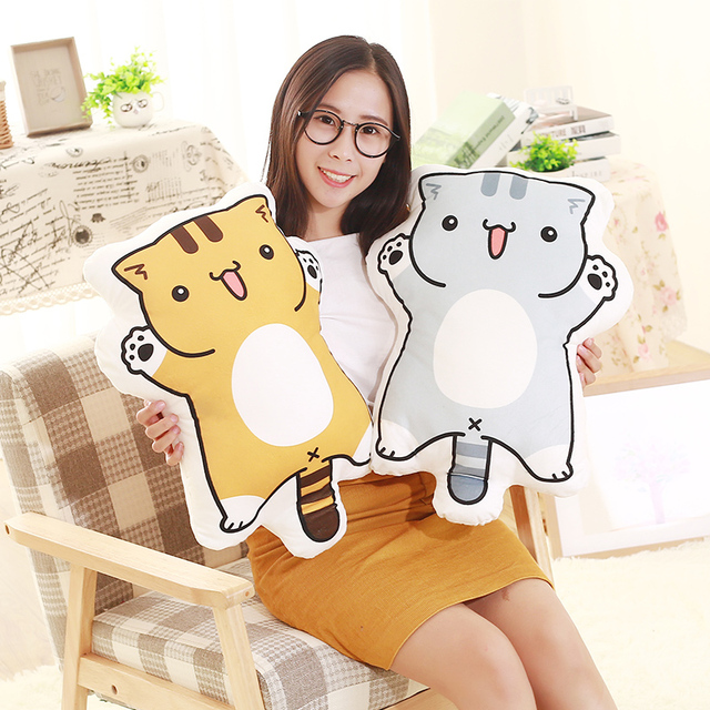 1pc 55cm Cartoon Figure Cat Plush Pillows Stuffed Cute Kitty Animal Plush Cushion Kids Toys Birthday Gift