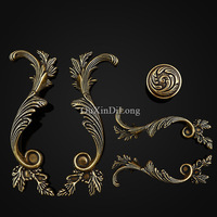 Top Designed 5Pair Or 10PCS Furniture Handles European Antique Drawer Wardrobe Cupboard Kitchen Cabinet Pull Handles