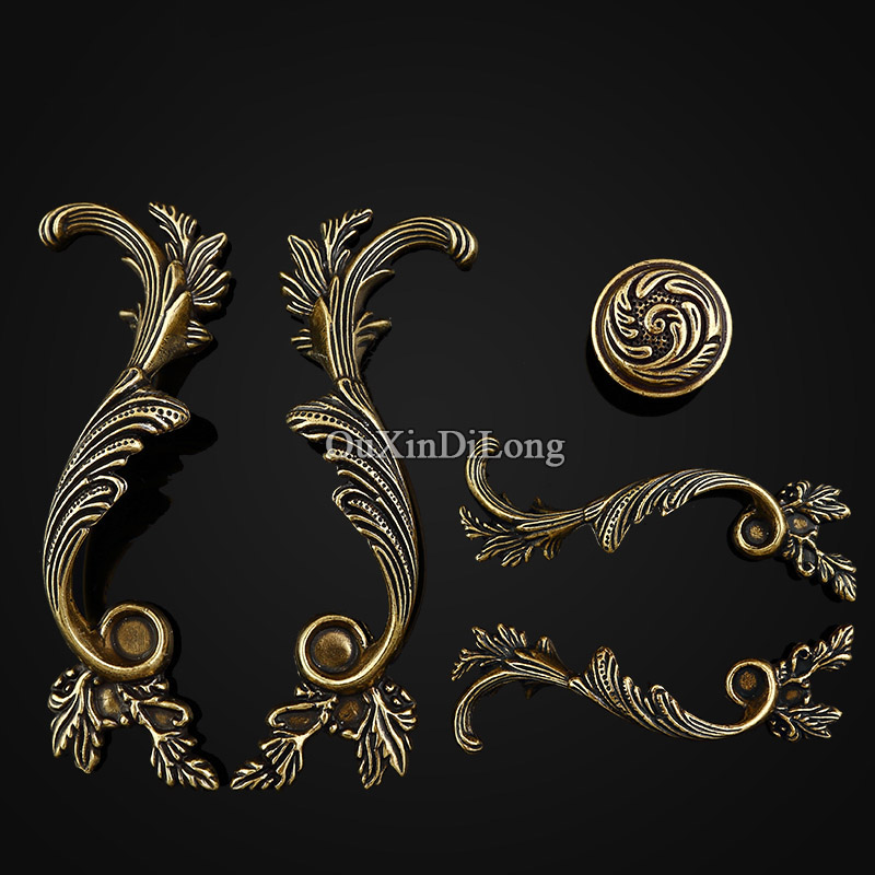Top Designed 5Pair or 10PCS Furniture Handles European Antique Drawer Wardrobe Cupboard Kitchen Cabinet Pull Handles and Knobs chinese kung fu book shaolin authentic internal strength five punches chinese wushu book free shipping