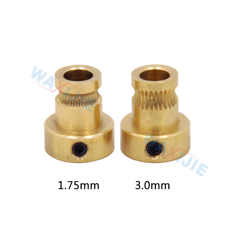 10PCS Lot Driver Gear Feed Wheel Brass Extrusion Wheels Bore 5mm For Mendel Extruder 1 75 3 0mm Filament Reprap 3D Printer Parts in 3D Printer Parts Accessories from Computer Office