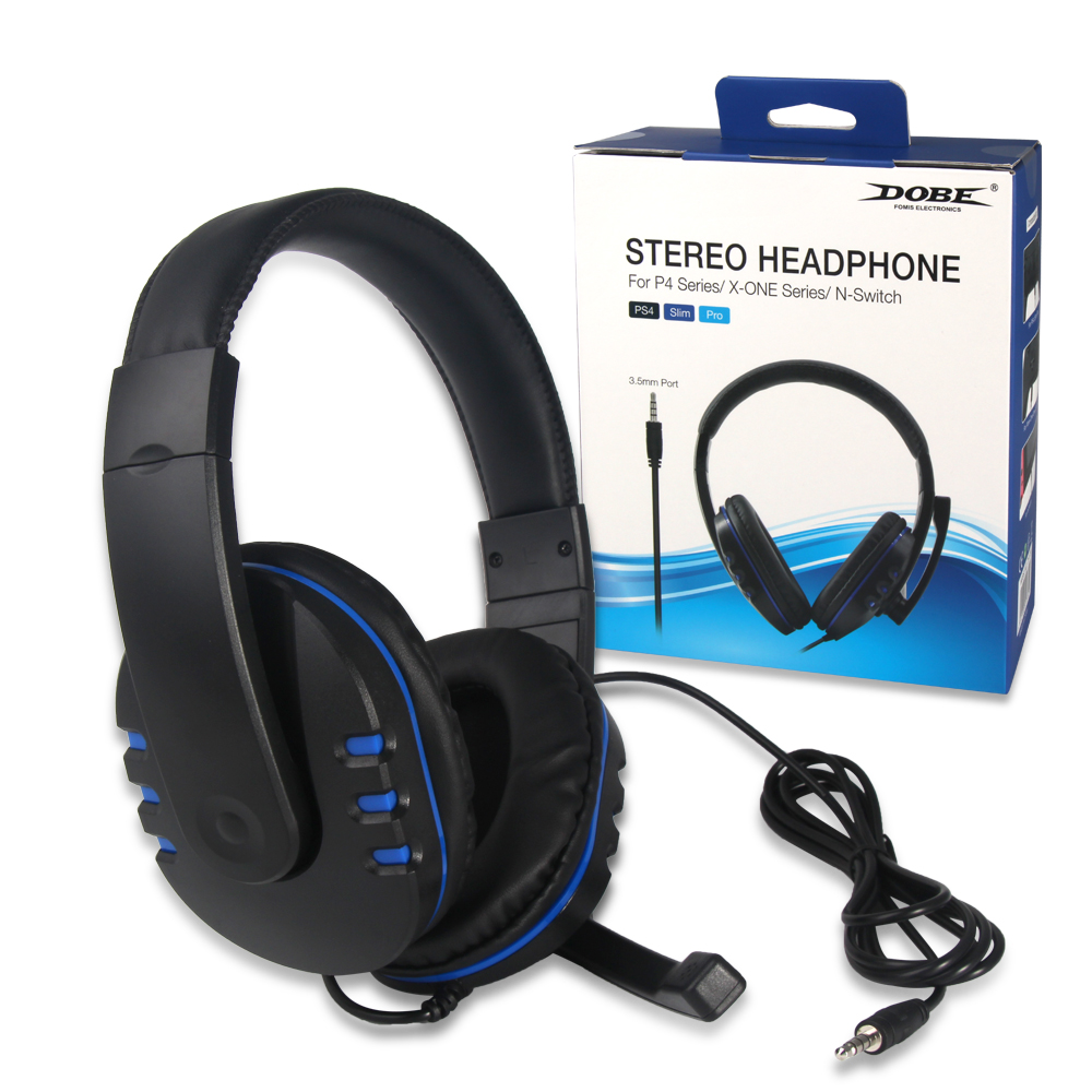 Stereo Wired Headphones Earphones Universal Ps4 Gaming Headset With Microphone For Sony Ps4 Xbox One Nintendo Switch Pc Bluetooth Earphones Headphones Aliexpress