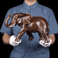 Miniature Garden Decoration Resin Elephant Figurine Home Statue Crafts Office Living Room Feng Shui Elephant Decor Ornaments