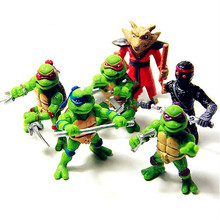 Hot sale 6Pcs/lot Teenage Mutant Ninja Turtles TMNT Action Figures Toy Set Classic Collection Toys for Kids