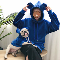 New Parent child Designer Clothes for People&pets French Bulldog Hooded Thickening Cat Sweater Small Big Dog Winter Warm Clothes