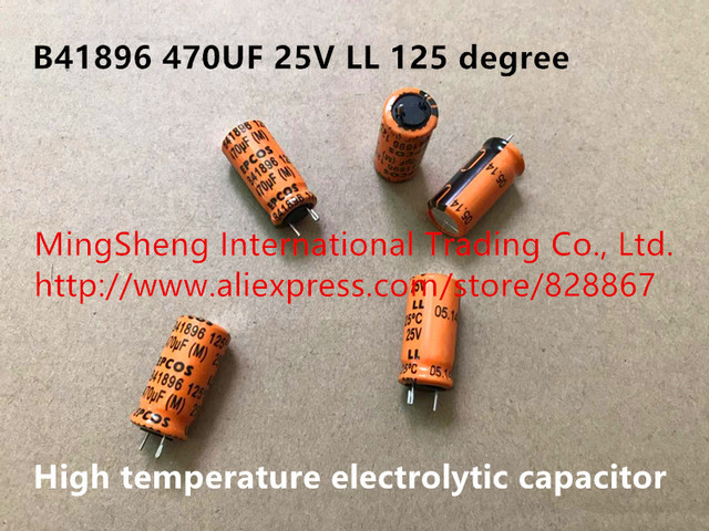 Original new 100% Germany 470UF 25V  LL 125 degree high temperature electrolytic capacitor B41896 (Inductor)