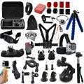 Gopro accessories set go pro kit mount for SJ4000 gopro hero5 4 3 2 Black Edition SJCAM SJ5000 camera case xiaoyi chest tripod