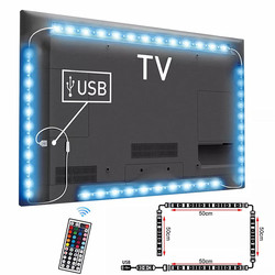 USB LED Strip DC5V Waterproof RGB 5050 SMD Led Light Can Change Color For TV Background Lighting With USB IR Remote Controller