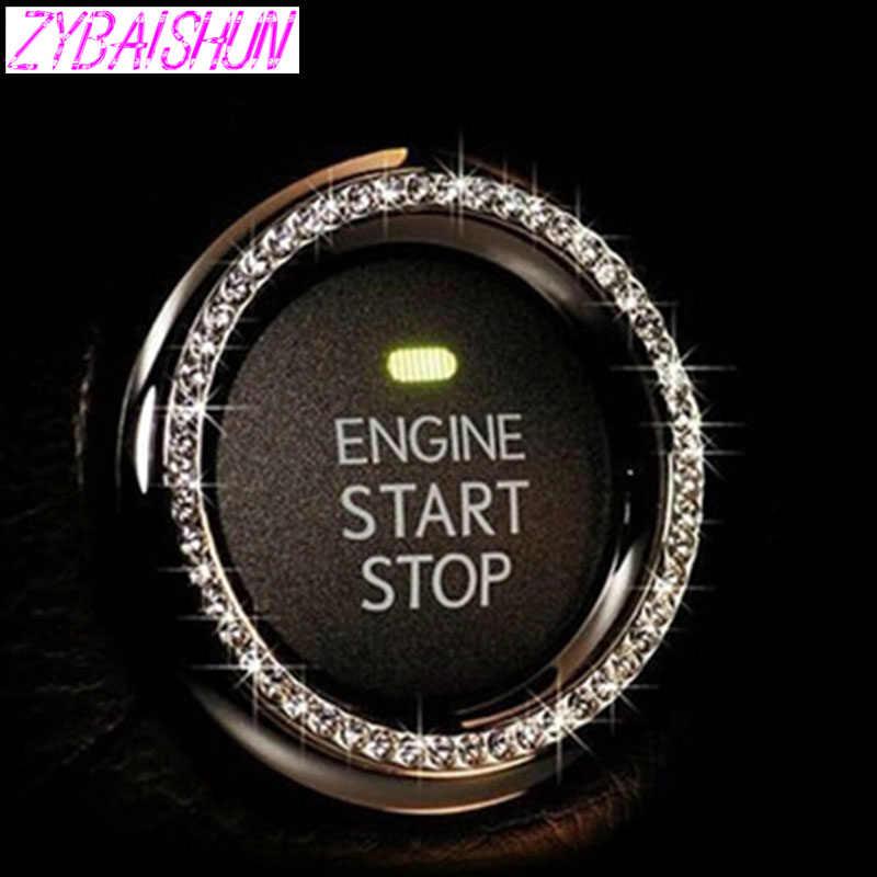ZYBAISHUN wyłącznik zapłonu dekoracji samochodu pierścień naklejki do BMW wszystkie serie 1 2 3 4 5 6 7 X E serii F e46 E90 X1 X3 X4 X5 X6 F07