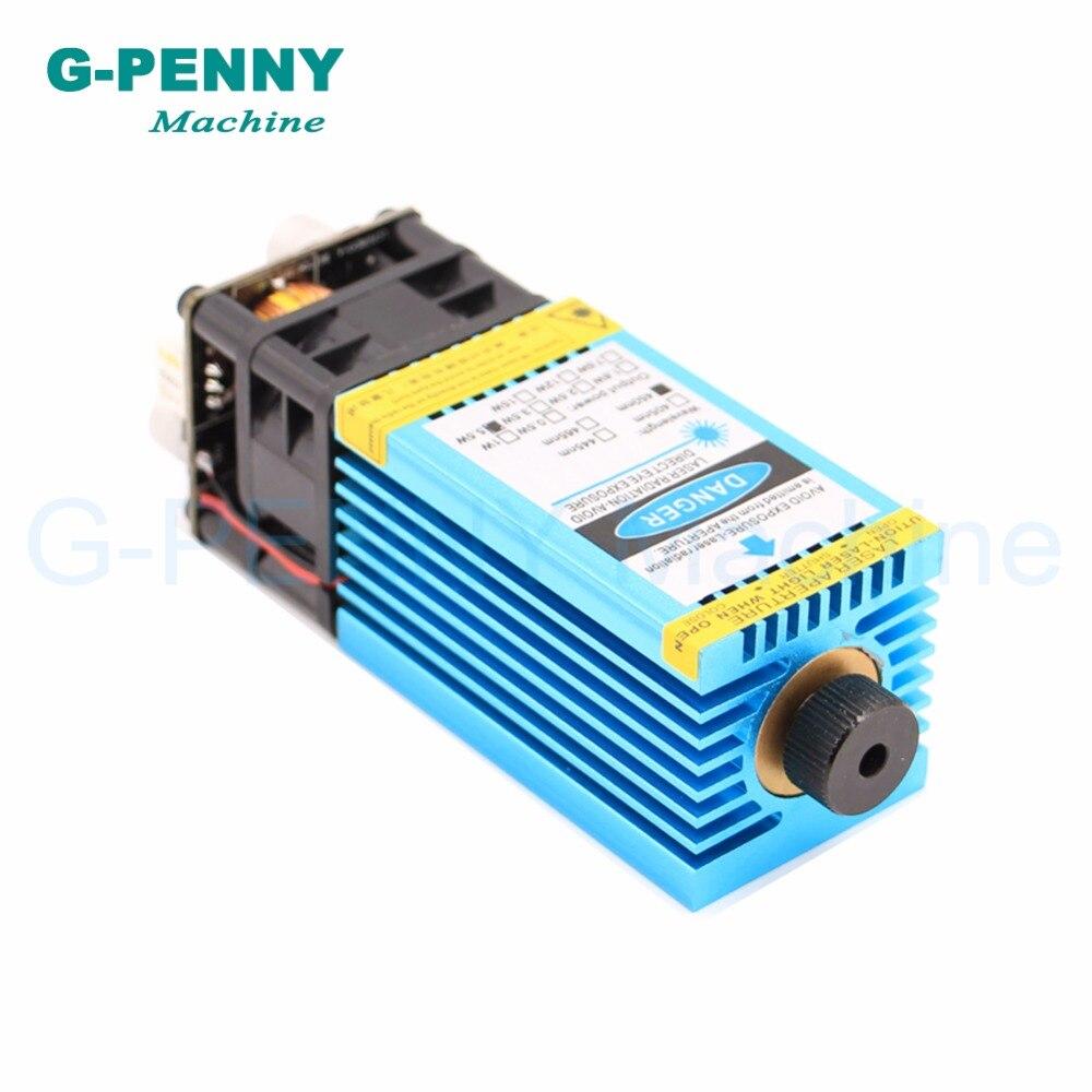 Livraison gratuite! Machine de gravure Laser 5.5N.m modèle 5500 mw 445nm lumière bleue PWM 12 vttl pmw gravure acier découpe bois planche. - 2