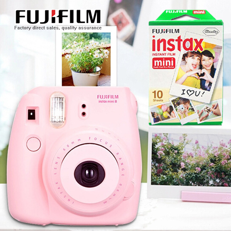 Fujifilm Instax Mini 8 Instant Film Camera Fuji Mini 8 Camera 10 Sheets Fujifilm mini films Photo Paper New Year Christmas Gift 5 packs fuji fujifilm instax mini instant film monochrome photo paper for mini 8 7s 7 50s 50i 90 25 dw share sp 1 cameras