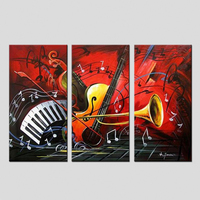 Modern Art Handpainted Music Art Home Decor Pictures On The Wall Pictures For Living Room Canvas